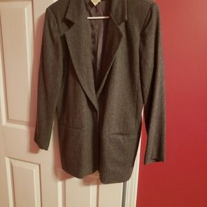 Jackets & Blazers - Grey wool blazer